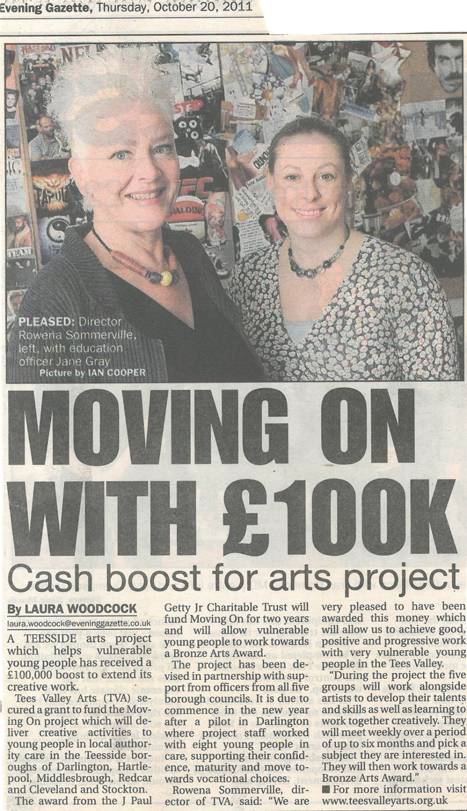 2011-10-20, Evening Gazette