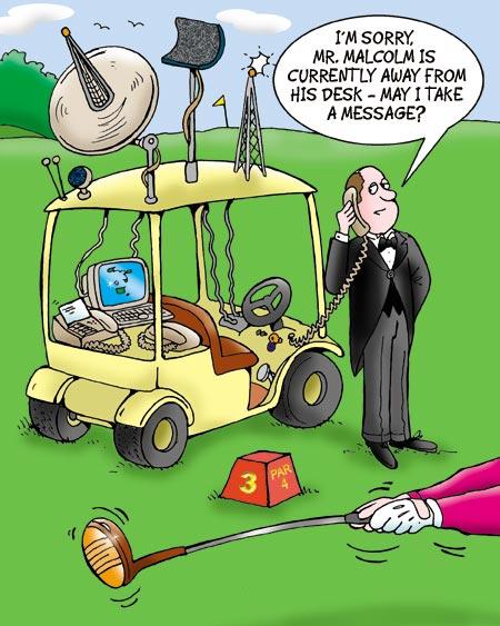Golf Cartoon 71 Tee Times