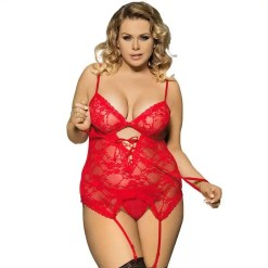 Dress and G string Lingerie Hot Teddy with Handcuff