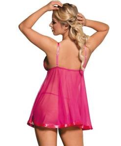 Plus Size Babydoll Bow Mini Dress