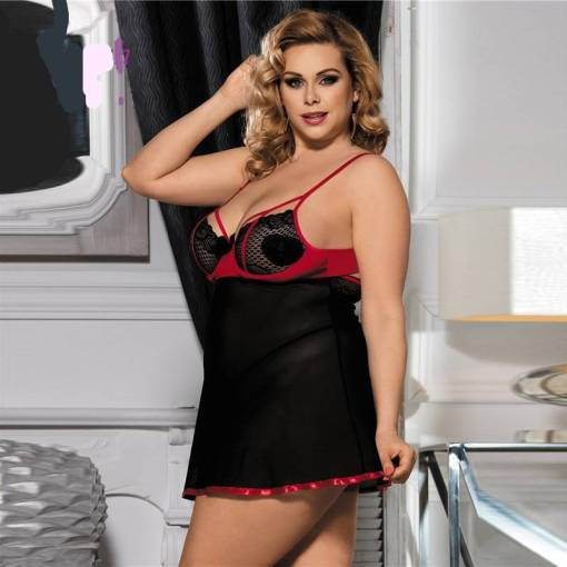 Plus Size Babydoll With Thong