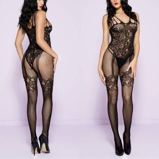 Fishnet Tights Lingerie BodyStocking Crotchless