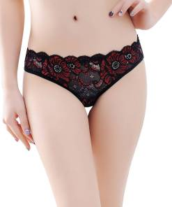 Lace Crotchless Panty Underwear Briefs