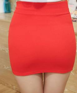 Red Tight Mini Skirt Micro