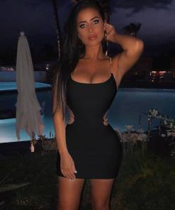 Sexy Black Dress Spaghetti Straps