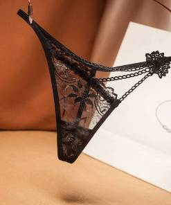 Women's Lace Thong Panties Low Waist