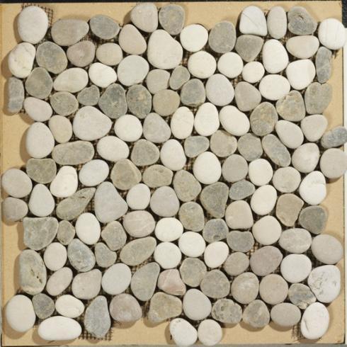 Beach Pebbles mix beige kiezelstenen op matje per m2