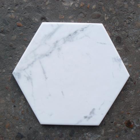 Hexagon wit mat marmerlook wand en vloertegel 175 x 20