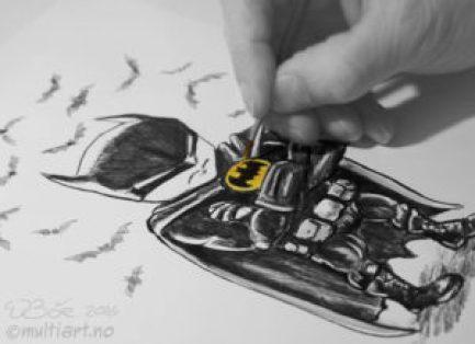 Batman mini karikaturtegning