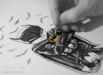 Batman mini karikaturtegning