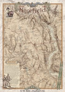 Norefjell-kart fra 1856.