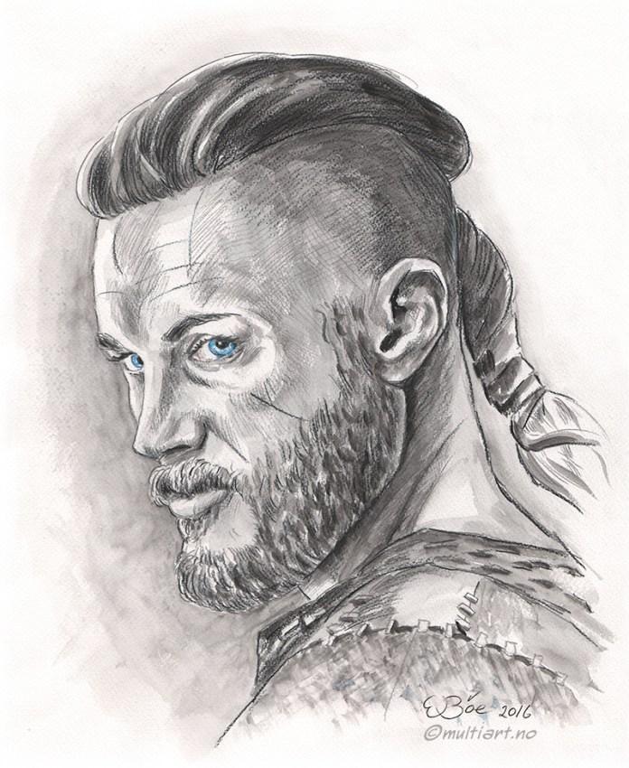 Drawing of Ragnar Lodbrok, Travis Fimmel