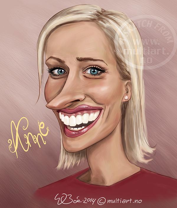 Karikaturtegning av Anne Rimmen