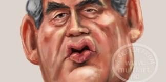 Gordon Brown caricature