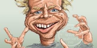 Harald Eia karikatur