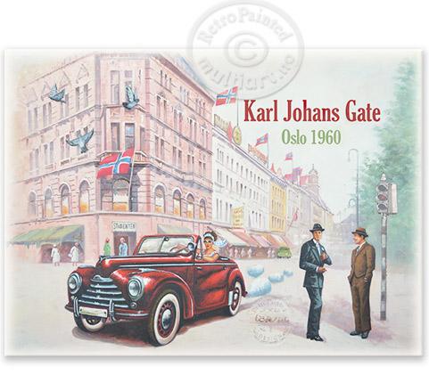 maleri Karl Johans Gate