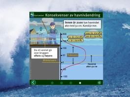 Infografikk som forklarer hva stormflo er. Grafikk: W. Bøe
