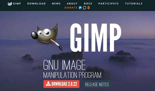 gimp software edit foto