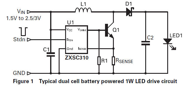 1W LED circuit diagram