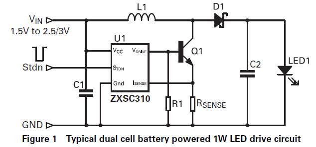 Mains Powered White Led Lamp Circuit Diagram. 230V White