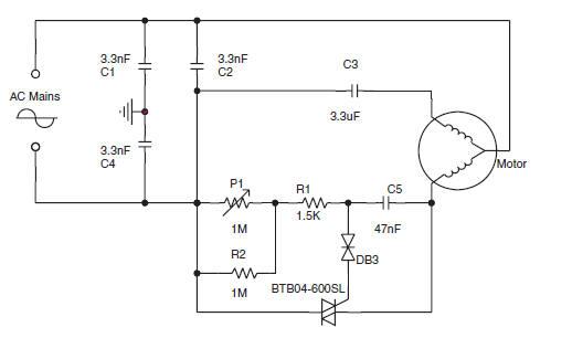 image ac motor speed control circuit diagram
