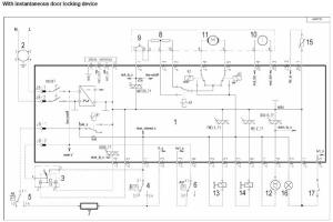 ZanussiElectrolux washing machine wiring diagram service manual error code circuit schematic