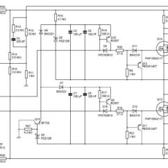 Dual 4 Ohm Wiring Diagram Drayton Central Heating Programmer 200w Class D Amplifier Schematics Free Electronic Circuits Plans Schema Projects ...