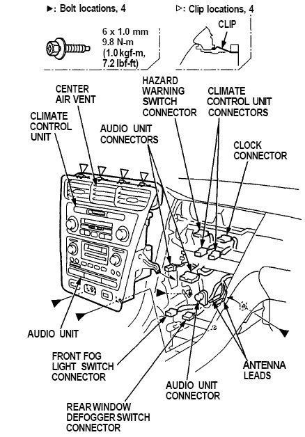 1996 Acura Rl Car Stereo Installation Kit Manual