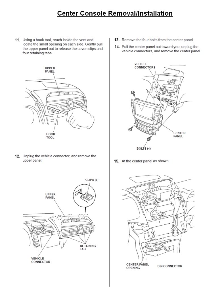 hight resolution of acura tl radio panel removal center console installation replacement instructions