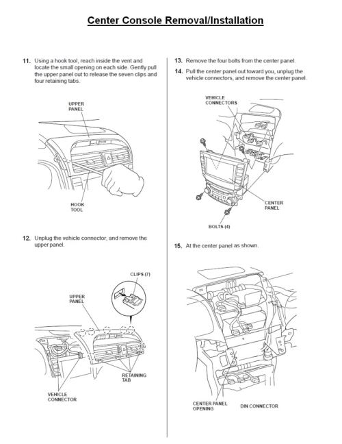 small resolution of acura tl radio panel removal center console installation replacement instructions