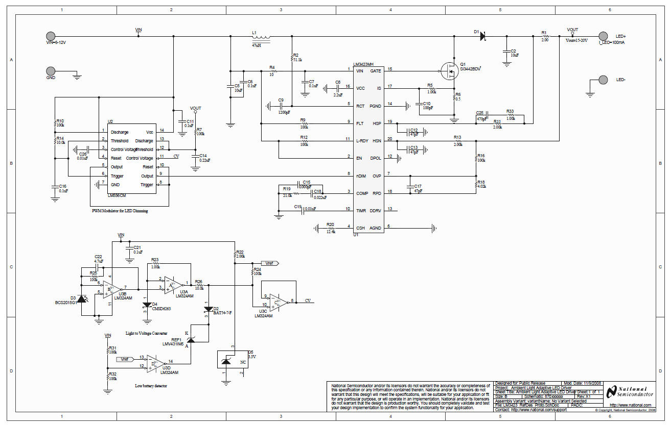 Led Light Driver Circuit Diagram Schematic Diagrams Controller The Ambient Adaptive Wiring Flickering