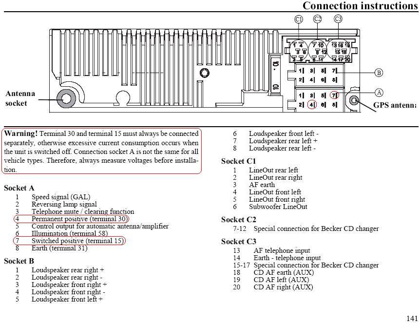 1996 ford ranger radio wiring diagram square d well pump pressure switch becker car stereo audio autoradio connector wire installation schematic ...