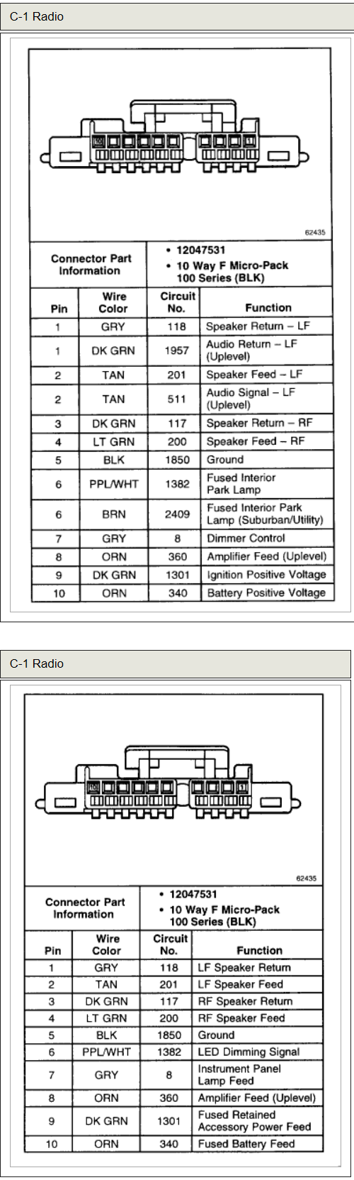 small resolution of chevrolet car radio stereo audio wiring diagram autoradio connector chevrolet tracker 2002 audio wiring diagram chevrolet audio wiring
