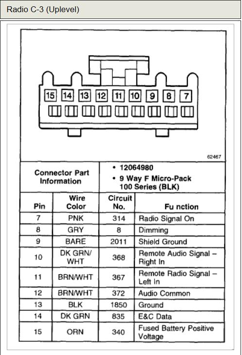 2005 chevy impala radio wiring diagram  wiring diagram load