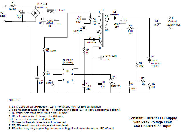 100 W Inverter Circuit Diagram Constant Current Led Driver Circuit Diagram
