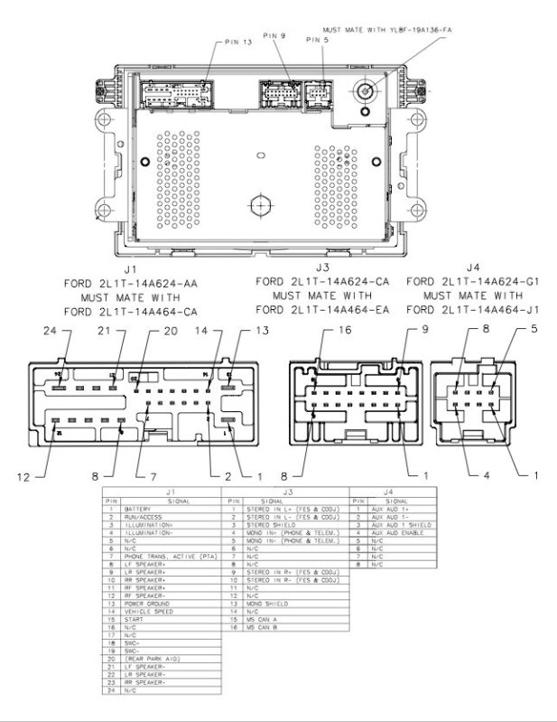 2001 ford f150 stereo wiring diagram 4 way switch pdf car radio audio autoradio connector wire installation schematic ...