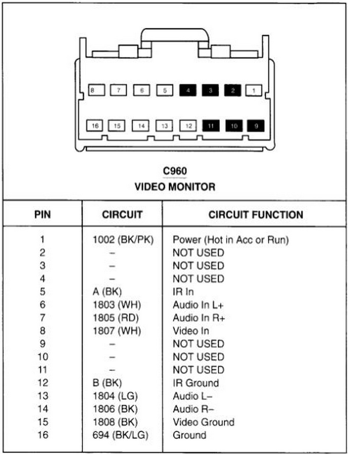wiring diagram for 2002 ford escape radio 3 way usb cable car stereo audio autoradio connector wire installation schematic ...