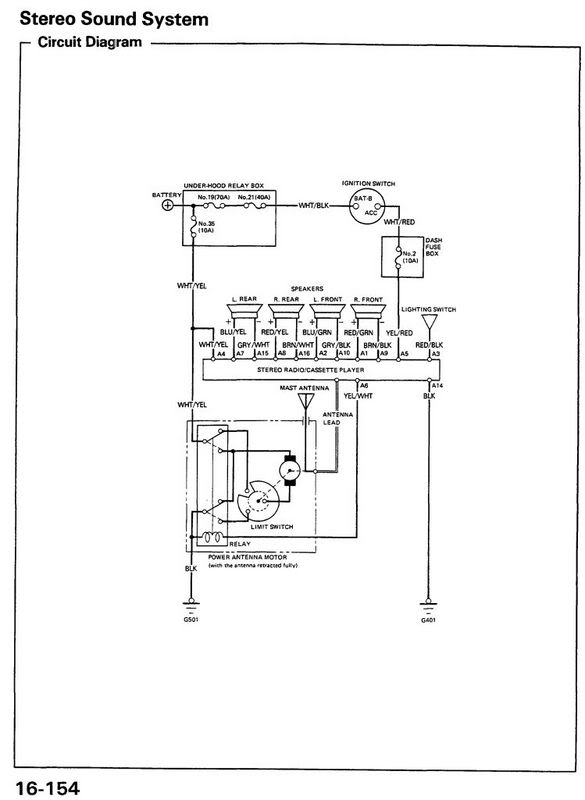 1994 honda accord speaker wiring diagram accord free printable wiring diagrams