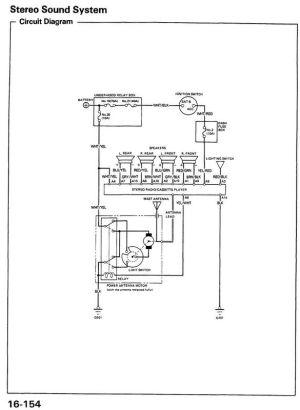 HONDA Car Radio Stereo Audio Wiring Diagram Autoradio connector wire installation schematic