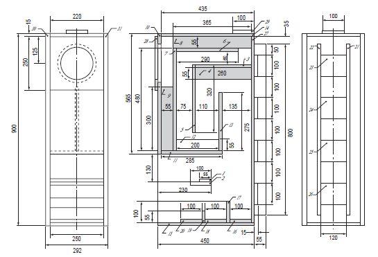 Fostex full range speaker box horn type DIY building