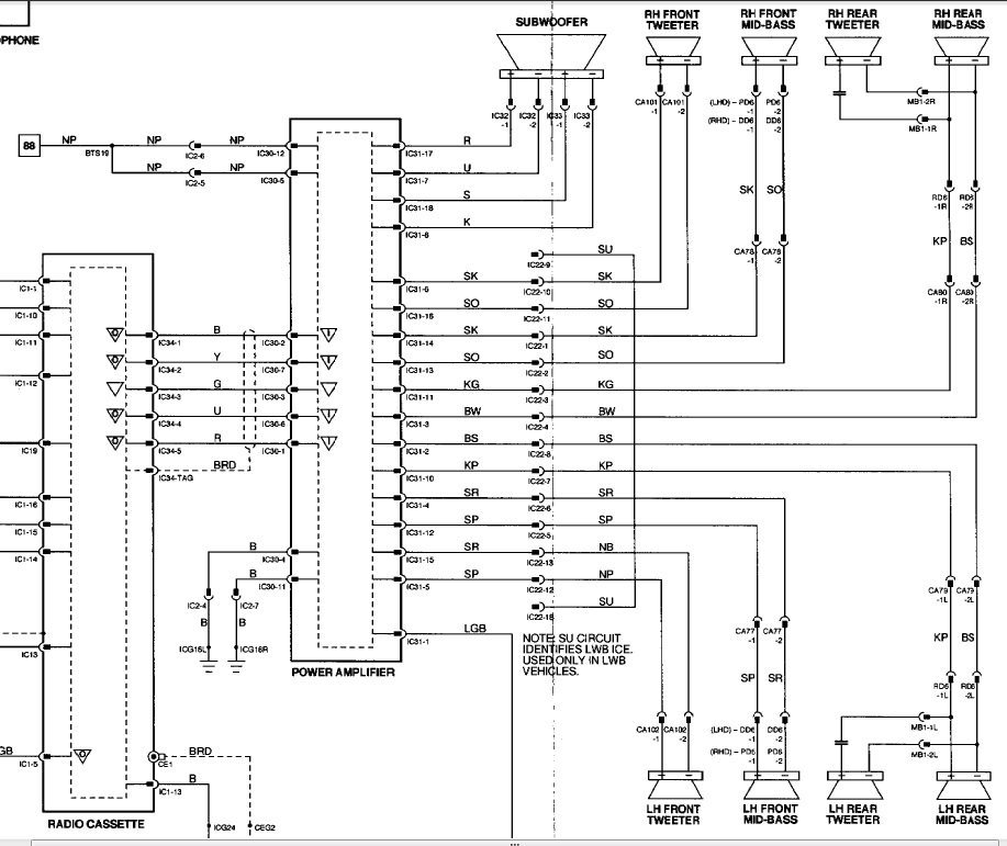 jaguar speakers wiring diagram
