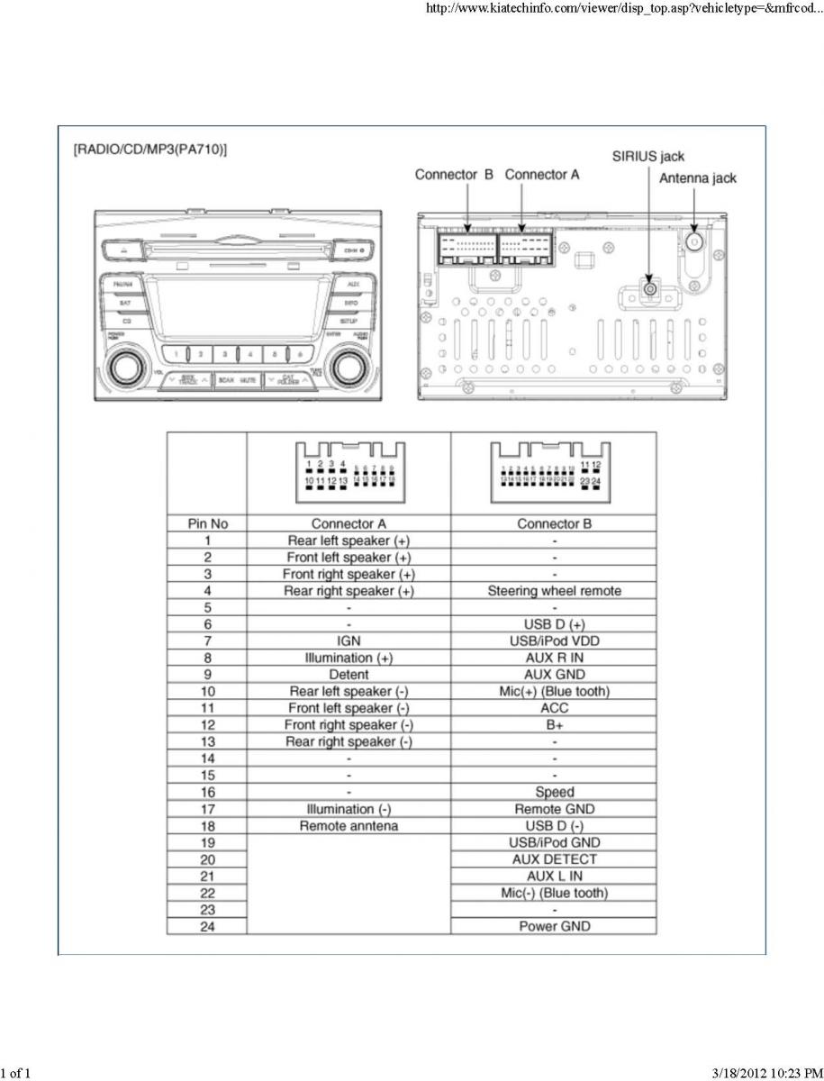 medium resolution of kia car radio stereo audio wiring diagram autoradio connector wire 2005 kia sorento radio wiring diagram