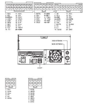 PIONEER Car Radio Stereo Audio Wiring Diagram Autoradio connector wire installation schematic