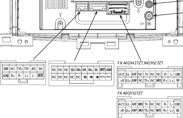 pioneer mosfet 45wx4 wiring diagram 2000 featherlite horse trailer 35 images lexus p3930 fx mg9437zt car stereo connector pinout radio audio