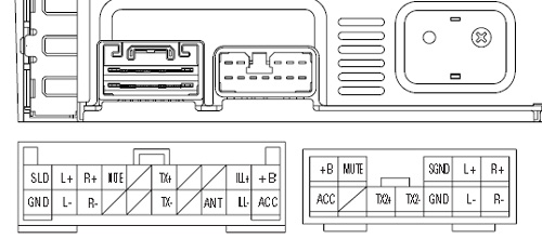 Lexus Pioneer KEX M8206 car stereo wiring diagram connector pinout 2?resize\\\\\\\=500%2C233 xo vision xod1750 wiring harness bosion 6 2 inch double din wiring  at gsmportal.co