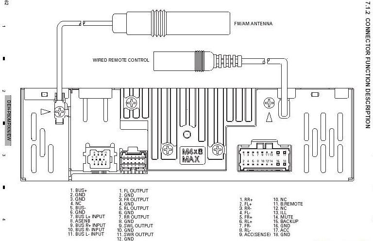 pioneer deh 1000 wiring stereo deh free printable wiring diagrams