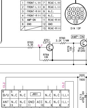 clarion wiring diagram dimarzio bass subaru car radio stereo audio autoradio connector wire installation schematic ...