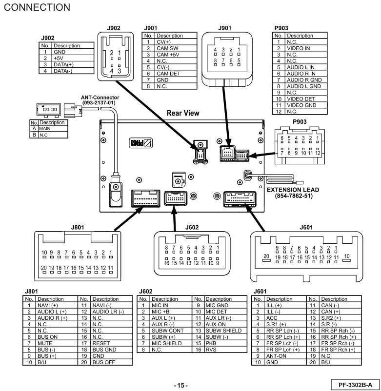 pin plug wiring diagram kenwood car stereo wire harness