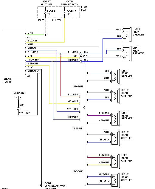 wiring diagram car audio speakers blank cell worksheet subaru radio stereo autoradio connector wire installation schematic schema esquema de conexiones stecker konektor connecteur cable