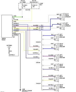 SUBARU Car Radio Stereo Audio Wiring Diagram Autoradio